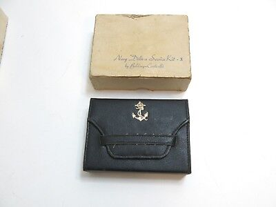 Vintage Wwii Us Navy Deluxe Service Sewing Kit X By Belding Corticelli ~ Unused