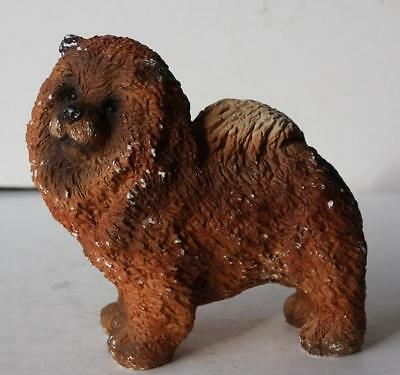 Chow Chow Dog Chalkware Figurine-Adorable Very Heavy Figurine-Unusual Cutie-LOOK