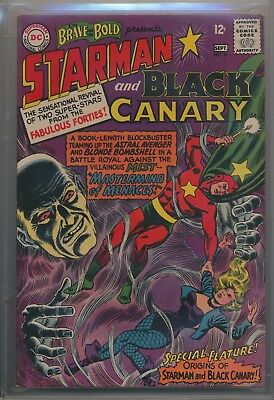 Brave and the Bold #61 (1965) CGC 9.2 White Pages Starman and Black Canary !