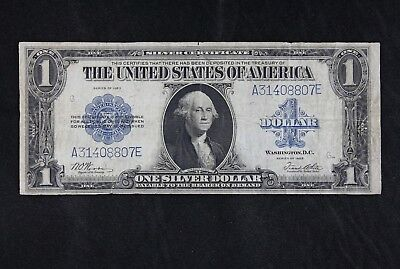 $1 1923 Horse Blanket Large silver certificate A31408807E one dollar FREE SHIP.