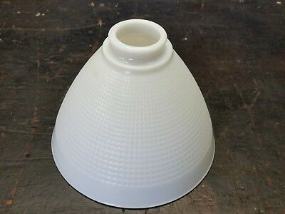 Vintage White Milk Glass Waffle Pattern Torchiere Lamp Shade Diffuser