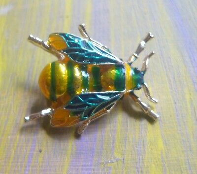 Brooch bee / fly / insect  Vintage rainforest-new old NZ stock #2