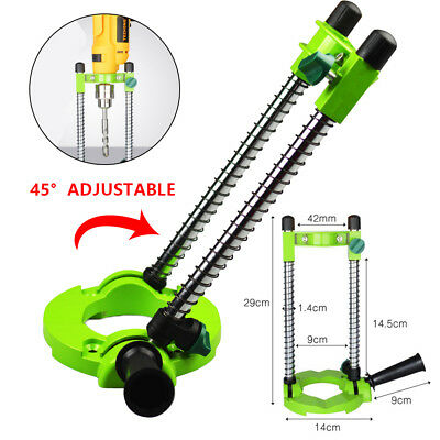 Precision Adjustable Angle Mobile Drill Holder Guide Stand Positioning Bracket