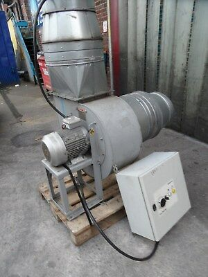 Nederman Fume Extractor Motor.  7.5Kw. Complete With Control Panel. 3 Phase.