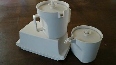 Collectable vintage Tupperware butter ,sugar,milk/cream containers