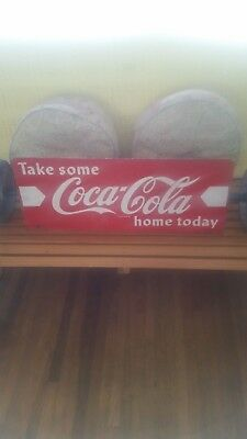 1950's Two Sided Coca Cola Sign