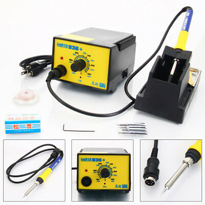 936+ 110V Electric Soldering Iron Station Welding Tool Kit w/ 4 Tips Stand Wire