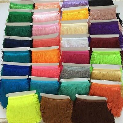 10 Yards Tassel Fringe Fringing Trim 15cm/6in Drop Latin Costume Furniture Decor