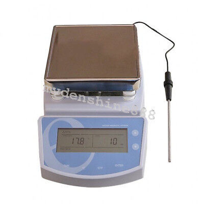 Digital Plate Magnetic Stirrer Electric high temperature Heating Mixer CE 220V