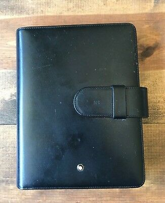Montblanc Meisterstuck Leather Notebook Organizer-3 Pen Holder-Phone Pocket-MS
