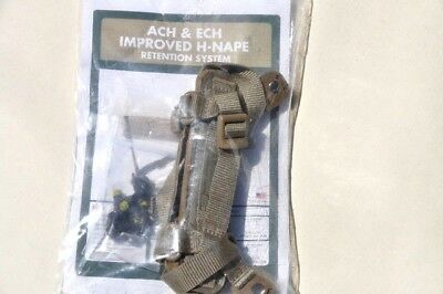 Ach  Ech Improved H-Nape Retention System Head-Loc Chin Strap S/m/l/xl New