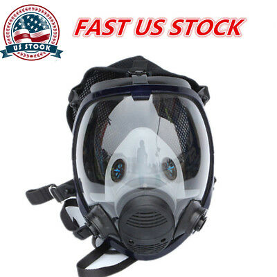 3M 6800 Full Face Large Vision Gas Mask Facepiece Respirator Painting Spraying