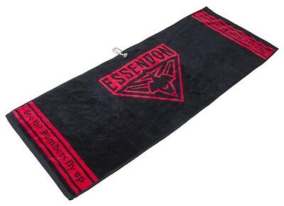 Official Afl Jacquard Golf Towel - Essendon - Brand New - Value Plus!!