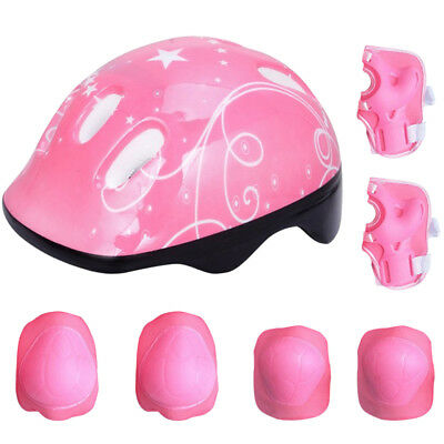 7PCS Roller Skating Helmet​ Knee Elbow Wrist Pad Protective Gear Sets For Kids