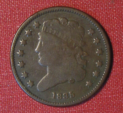 1835 Classic Head Half Cent - Nice Solid Circulated Example, Great For Type Set!
