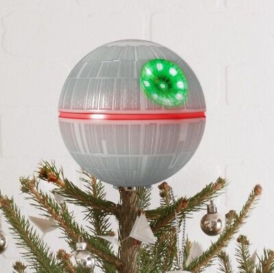 "2017 Hallmark Keepsake Star Wars Death Star Tree Topper, 6.3"" Ornament ~ NIB"