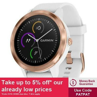 Garmin Vivoactive 3 White with Rose Gold Hardware with GEN GARMIN WARR