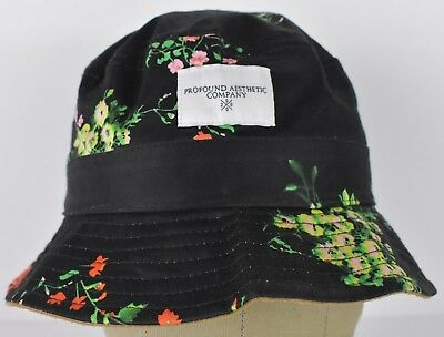 Black Profound Aesthetic Co Floral Roses Design Bucket Boonie Hat Cap Fitted cd555bd918f6