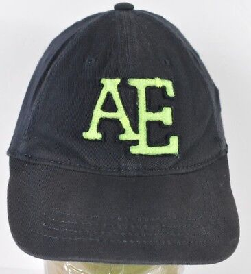 Navy Blue American Eagle Outfitters AE Logo Embroidered Baseball Hat Cap  Fitted 1c11acf868f5