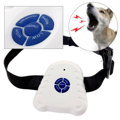 Safe Ultrasonic Dog Pet Stop Barking Anti Bark Training Trainer Control Collar@T