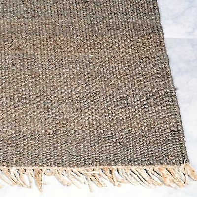 IUTA NATURAL KNOTTED JUTE FIBRE BROWN FLOOR RUG RUNNER 75x340cm **FREE DELIVERY*