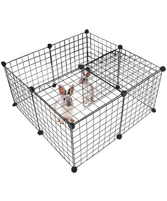 Dog Playpen Portable Metal Yard Fence Kennel Crate Fence Tent for Small Animals