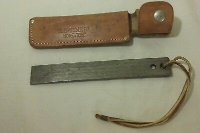 Vintage Schrade Old-Timer Honesteel 2 Holed Knife Sharpener