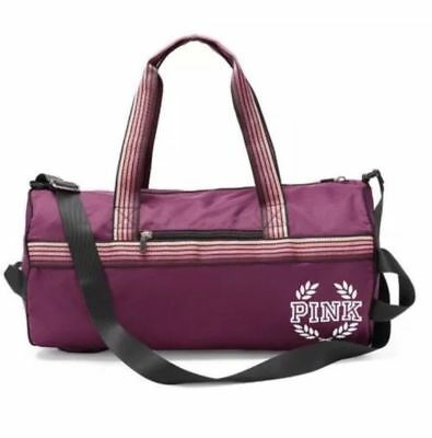 8c3b998c466d Victoria s Secret Pink Campus PURPLE Retro Duffle Gym Bag Tote School Sport