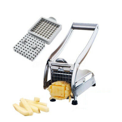 Stainless Steel Blades Chrome Plated Potato French Fry Chipper Chips Cutter #AU