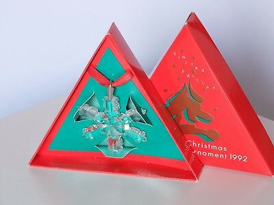 Swarovski 1992 SCS Gold Annual Edition Christmas Star Snowflake Ornament 168690