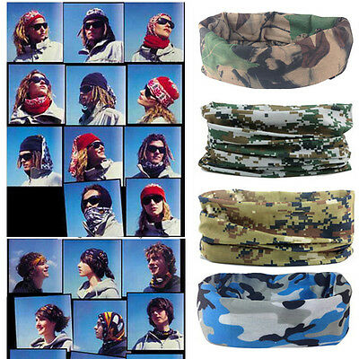 Tarnungs Schal Stirnband Gesichtsmaske Winter warme Bandana Headwear~