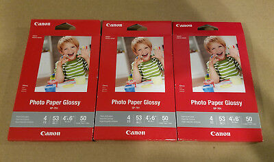 Canon Inkjet Photo Paper Glossy GP-701 50 Sheets - Lot of 3 - Sealed