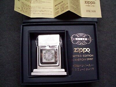 Zippo Japan 1998 Time Lite Barcroft style table 0289 Lm Ed lighter unfired clock