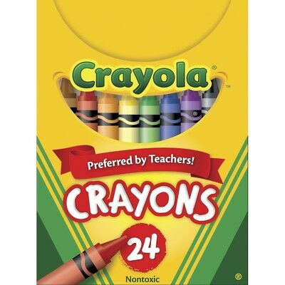 24 Pack Crayola Standard Size Crayons In Tuck Box For Extra Strength Durable