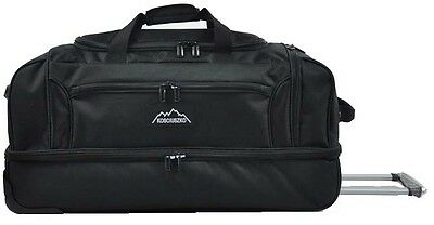 Kosciuszko Duffle Bag With Wheels 72Cm - Rrp $199 Black