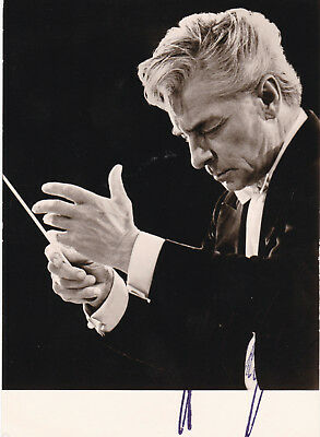 Conductors - HERBERT von KARAJAN signed photo