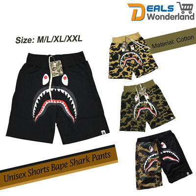Unisex Shorts Japan Bape Shark Jaw Icon Pattern A bathing ape dark in glow Pants