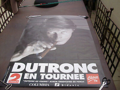 Photo Affiche Poster Jacques Dutronc 1M20 X 78 Cm Tournee 1992 Casino Paris
