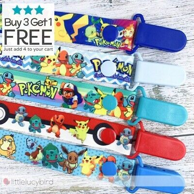 Pokemon Dummy Clip - Pacifier Clips - Soother Chain - Binky - Baby Gift