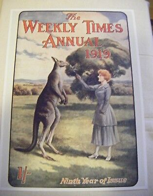 Weekly Times Annual Double sided Poster.1919
