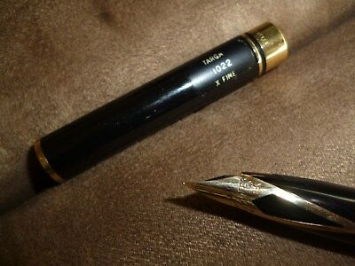 Vintage Sheaffer fountain pen marked USA 585 14K Targa 1022 x fine