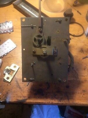 Vintage Long case clock movement & dial