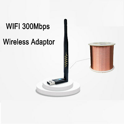 ADATTATORE ANTENNA USB WIFI ZGEMMA OPENBOX DREAMBOX AMIKO EDISION MAG 300mbps IT