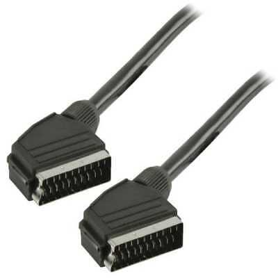 Cable euroconector-Scart M-M 2 M Negro