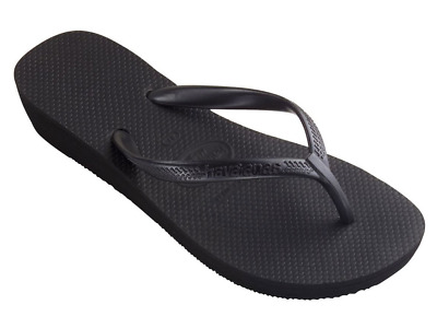 new product 29a41 c3bb4 INFRADITO HAVAIANAS HIGH light da donna con zeppa 4cm nero in gomma estate  mare
