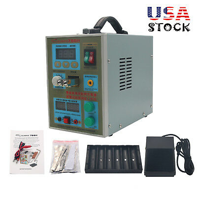 788H LED Dual Pulse Spot Welder 18650 Battery Charger 800A 0.1-0.2 mm 36V 60A US