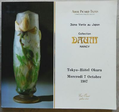 **** Catalogue De Vente : Collection Daum Nancy - Ader Picard Tajan - 1987 ****