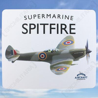 Spitfire Mouse Mat - Vintage WW2 Military British RAF Royal Air Force Pad NEW