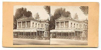 PHOTO STEREO Café des Ambassadeurs PARIS, c.1870 - Albumen STEREOVIEW FOTO