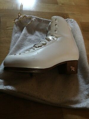 Risport RF4 Ice Figure Skate Boots Size 5 255 Excellent Condition